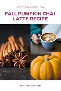 pumpkins hand holding a latte and cinnamon sticks