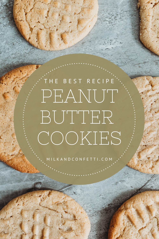 Classic peanut butter cookies recipe.