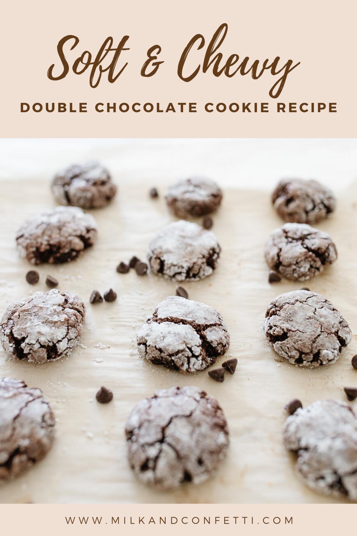 Double chocolate gluten free cookies that taste like brownies!