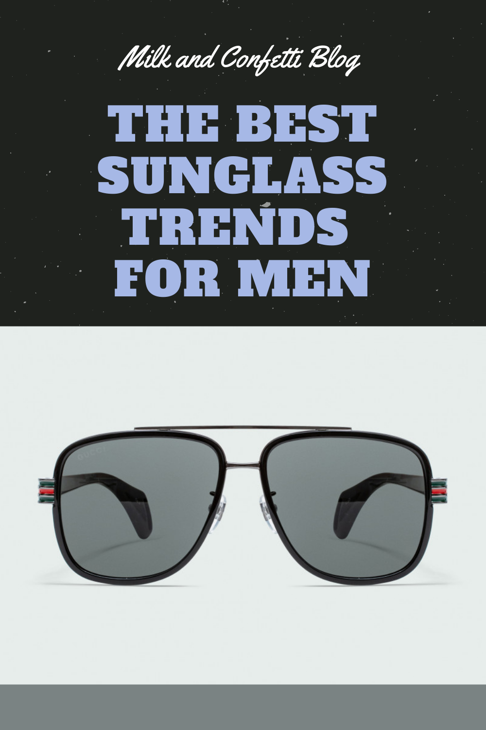 Sunglass trends for men.