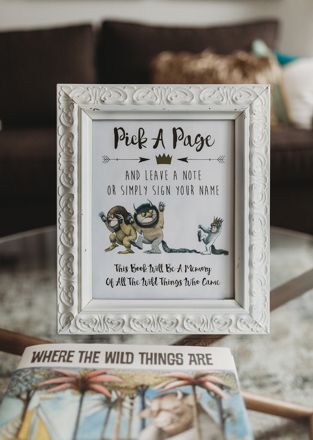 where the wild things are first birthday guest book