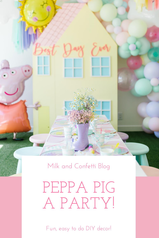Peppa Pig party Peppa Pig Birthday Peppa Pig favour Peppa Pig decor Peppa Pig Cake Peppa Pig DIY