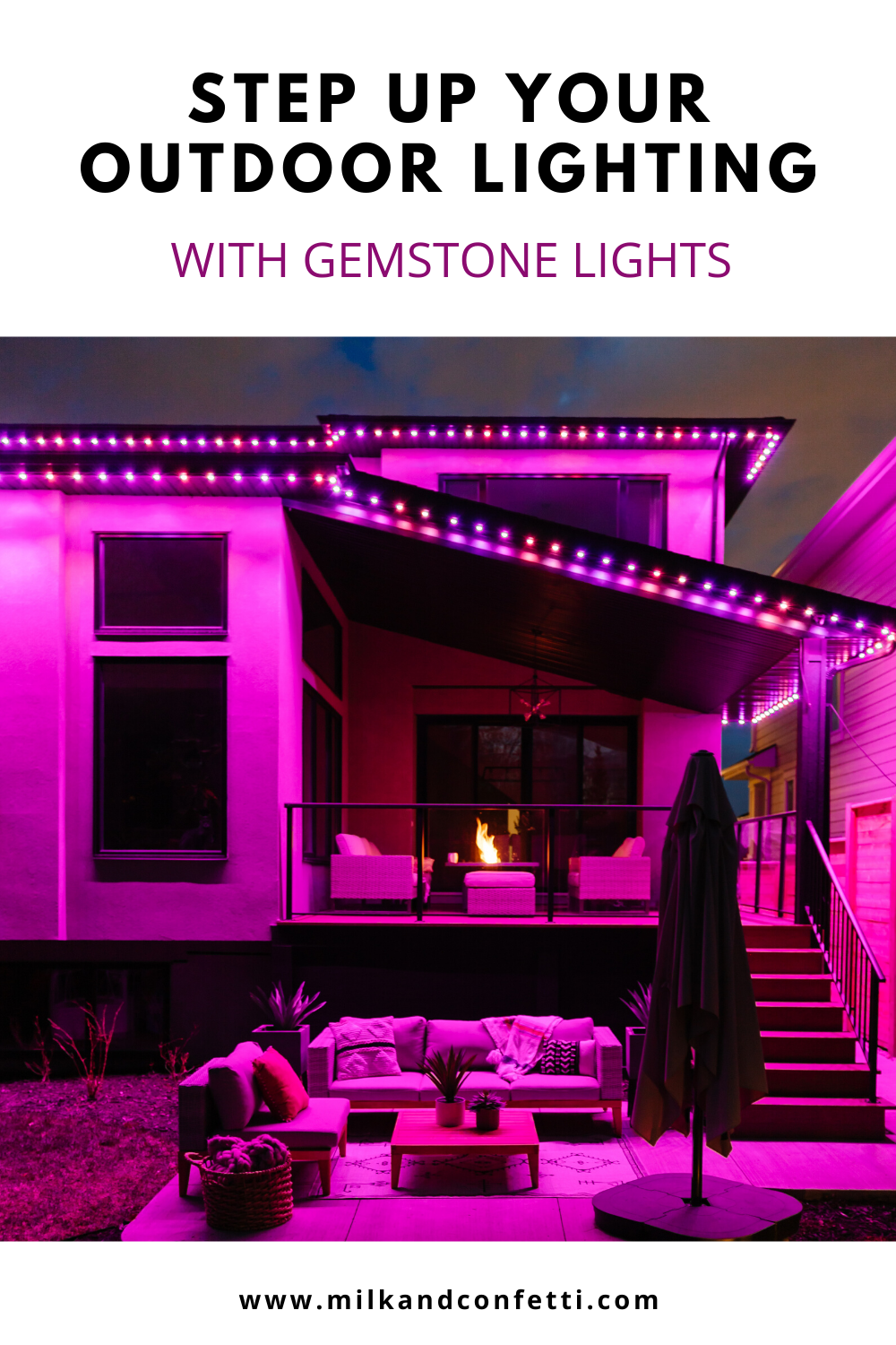 Gemstone lights smart outdoor lights for all occasions on a modern home exterior