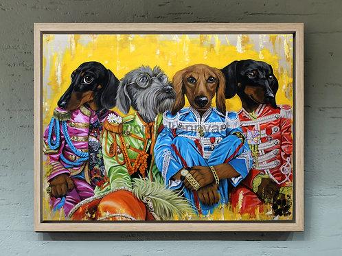 Sgt Peppers Dachshund Club - canvas print