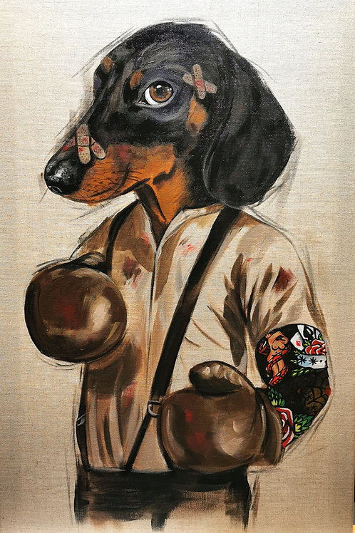 'The boxer' original painting