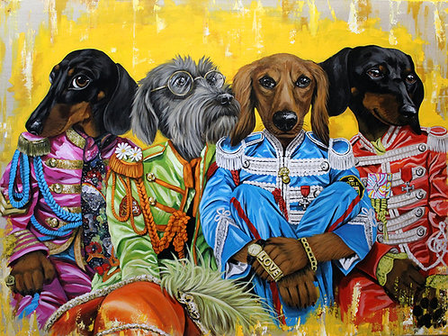 Sgt Peppers Dachshund Club - original painting