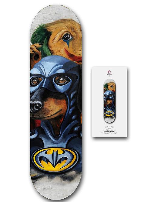 Batman vs Joker - skate deck