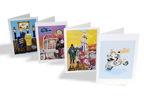 4pk greeting cards (inside blank)