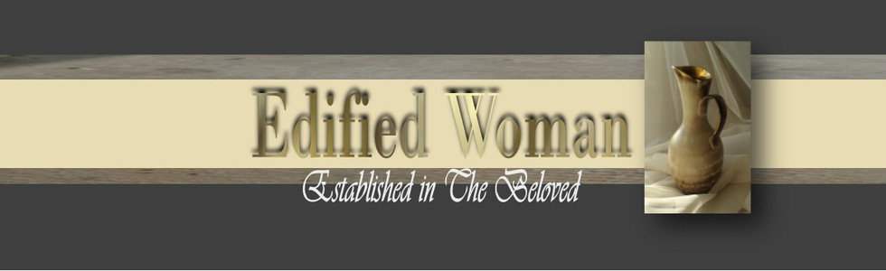 Edified Woman website header