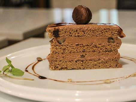 甘栗の米粉チョコレートケーキ