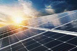 solar-panel-with-blue-sky-and-sunset-con