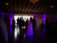 Purple Up Lighting for a wedding at a Barn venue, Florida, Brett Brisbois Events DJ Service