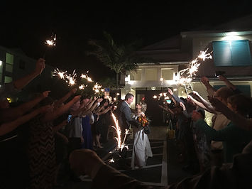 Sparkler exit done correctly, Harbour House, Indian Harbor Beach, Brett Brisbois Events