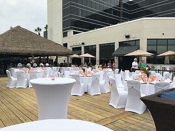 Hilton Cocoa Beach wedding on deck Brett Brisbois Events