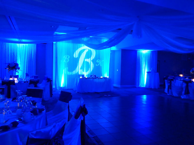 Large Custom Monogram for a wedding, Galaxy Ballroom, Marriott, Cocoa Beach, Brett Brisbois Events