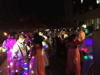 Wedding Dancing Outdoors Hilton Cocoa Beach DJ Brett Brisbos
