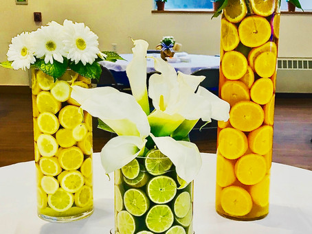 Fresh & Tangy Centerpieces