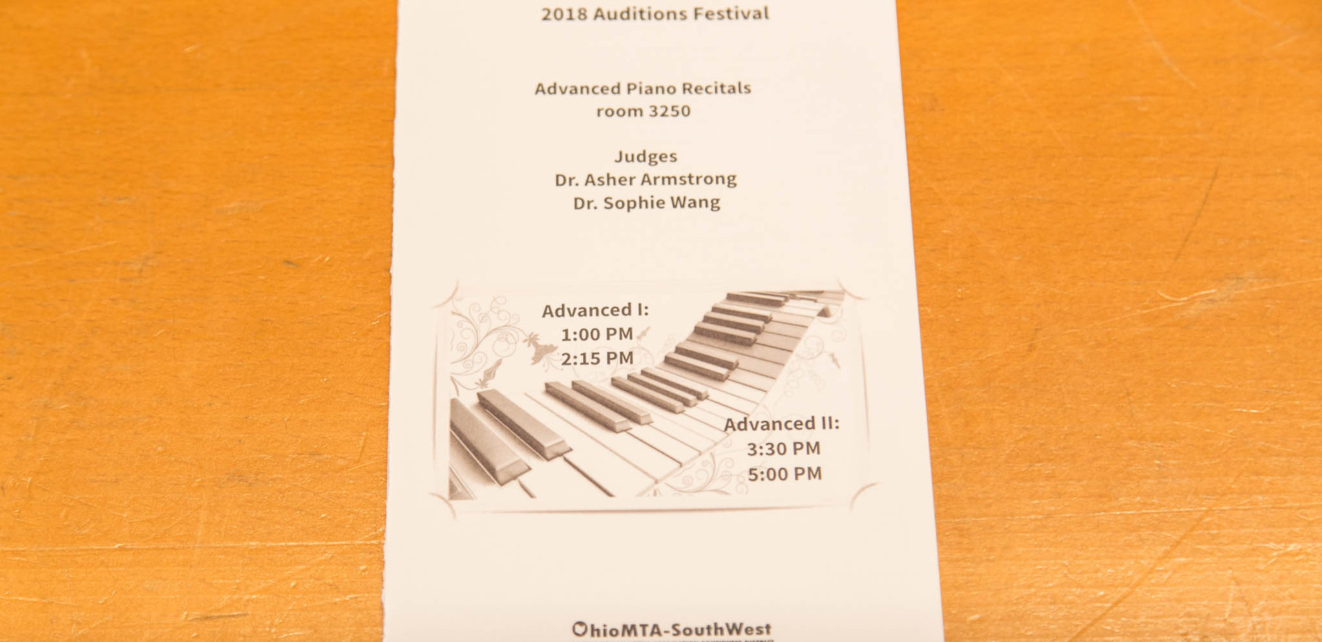 2018 Auditions Festival 1
