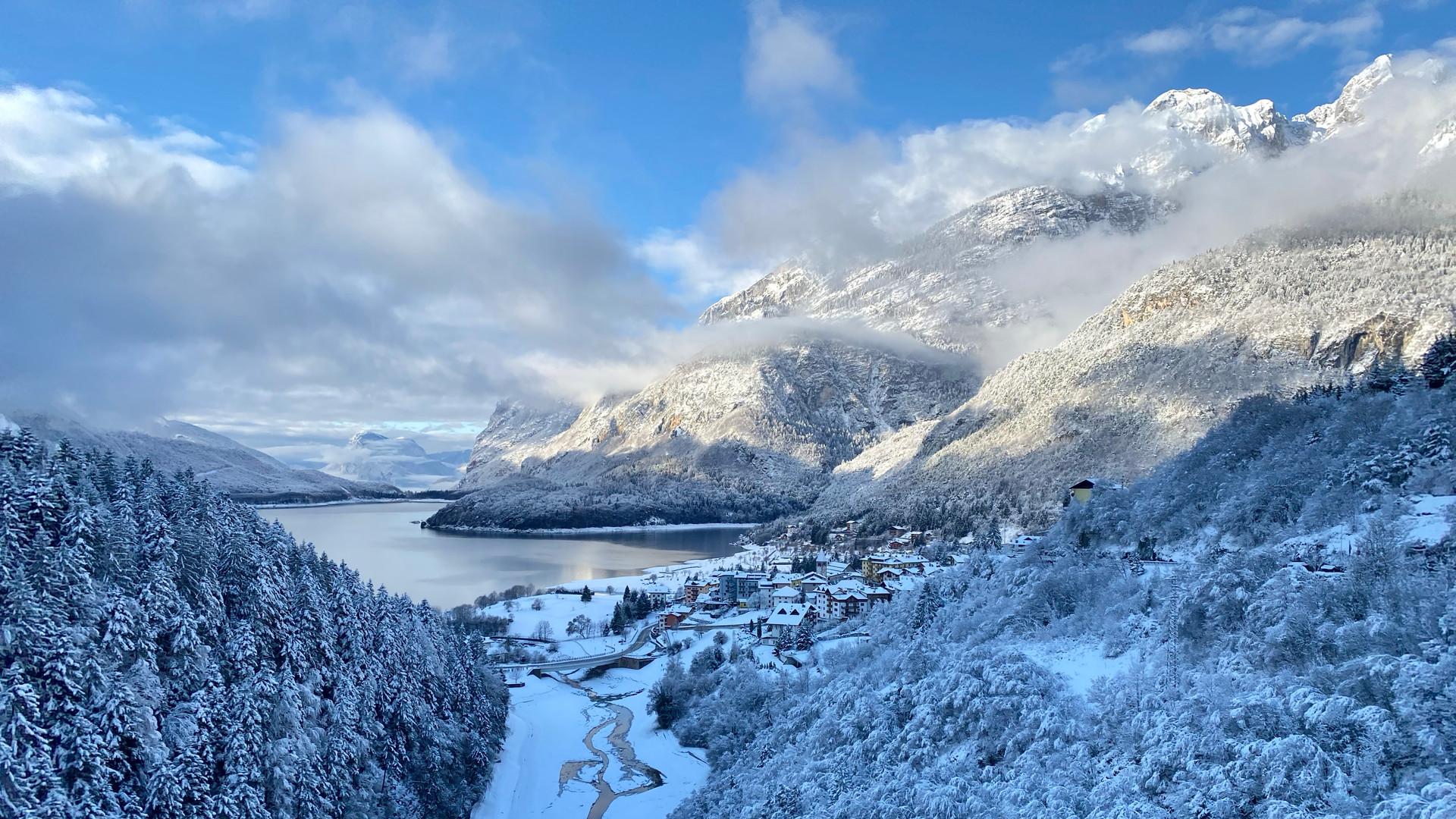 Lago di Molveno inverno 2020