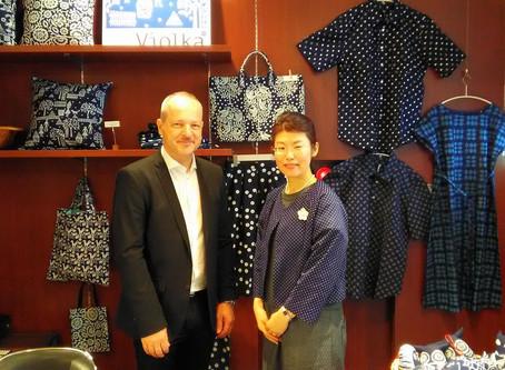 駐日チェコ大使が、ヴィオルカの催事@三省堂神保町本店をご訪問