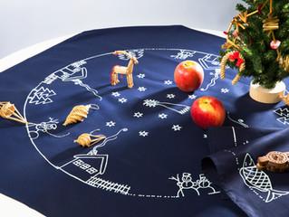 藍染めとクリスマスオーナメント