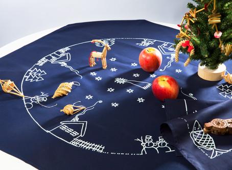 チェコの藍染め クリスマスシーズンの銀座に登場します