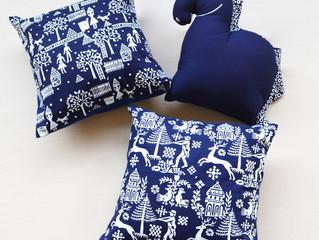 女性の心つかむ チェコ伝統の藍染め 三省堂書店本店(神保町)に出展