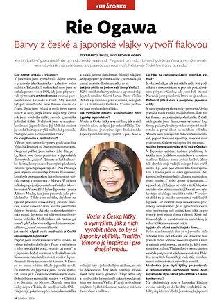 チェコの藍染め ヴィオルカが取りあげられたメディア記事です。