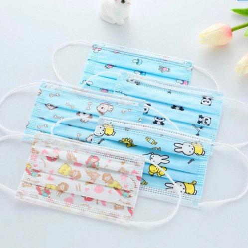 Children's 3Ply Disposable 10 Pack Masks -