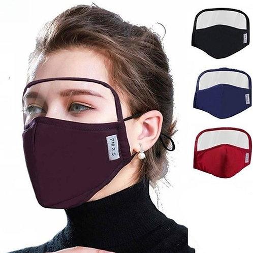 2 in 1 Black Face mask