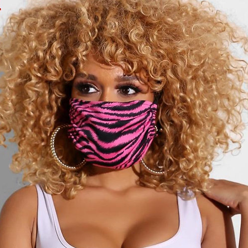 Pink Stripe Face Mask