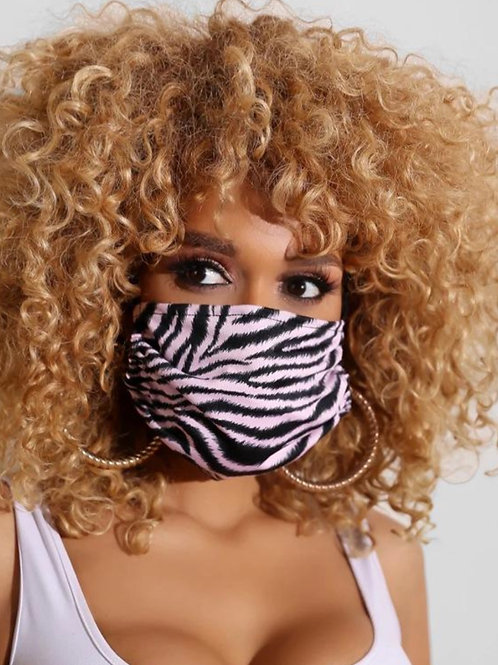 Light Pink Stripe Face Mask