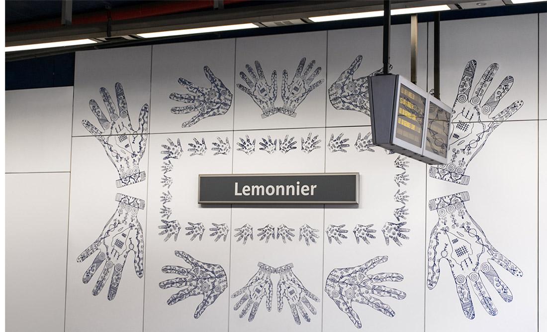 Lemonnier, T-banestation, Belgien