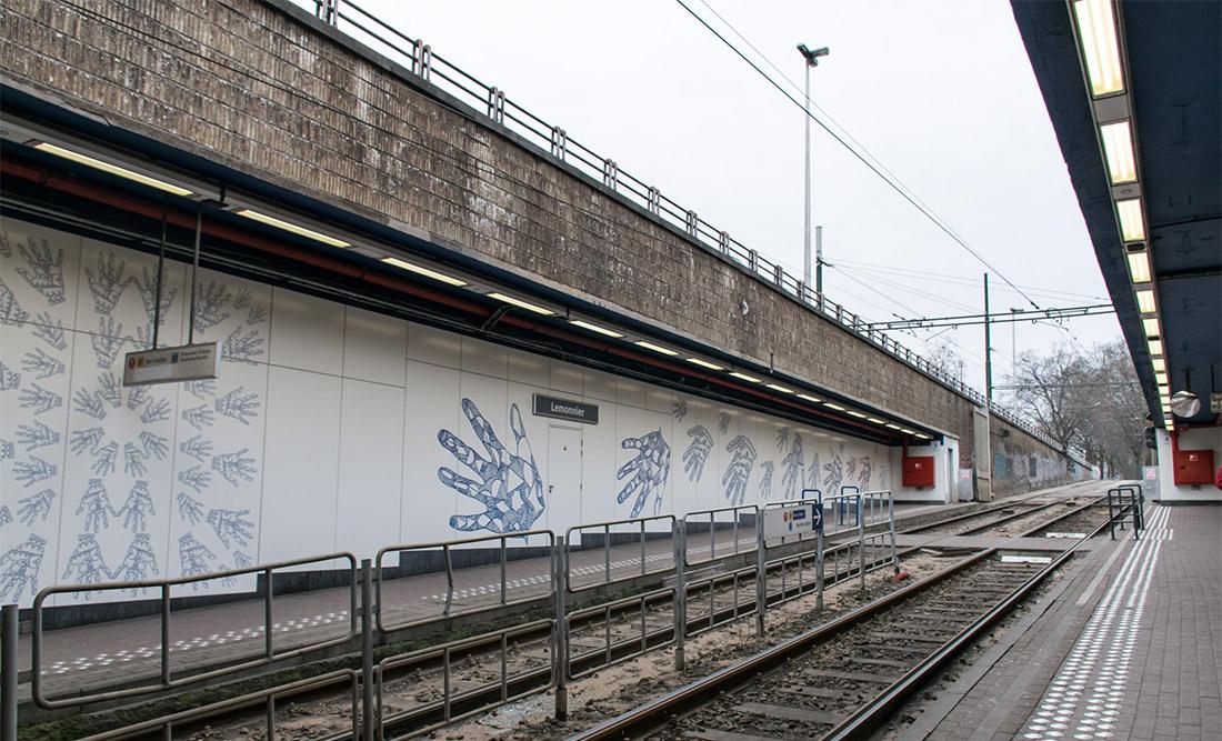 Lemonnier, T-bana, Belgien