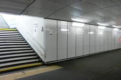 Emaljpaneler i gångtunnel