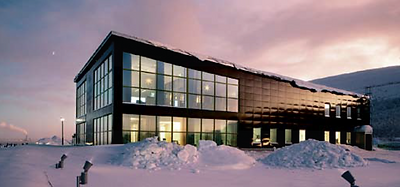 Emalj som fasadbeklädnad LKABs nya kontor Kiruna