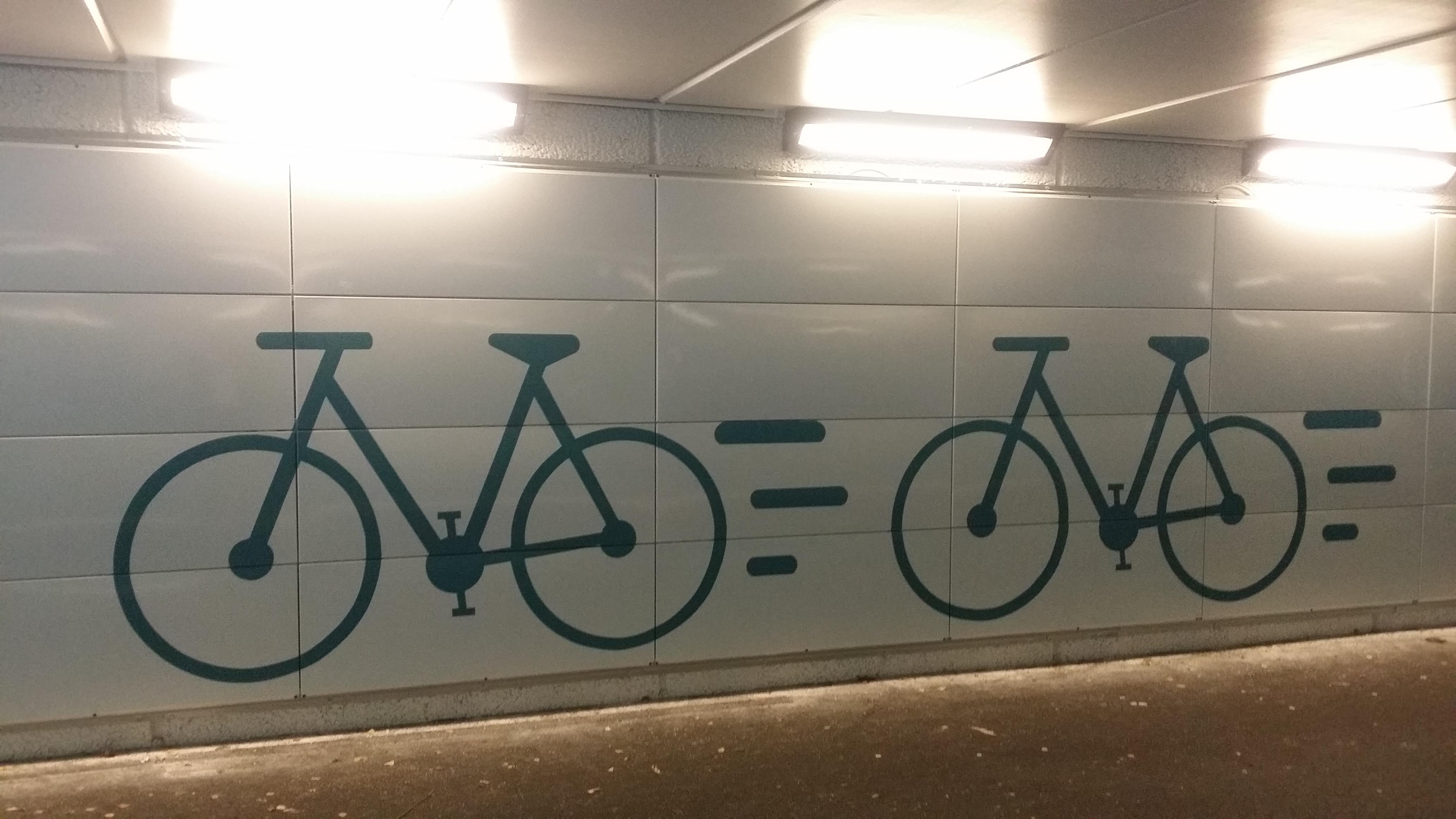 Gång- och cykeltunnel Dag Hammarskjölds väg Kungsleden Uppsala