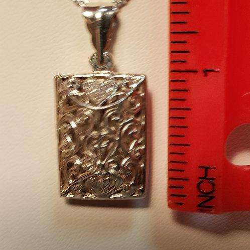 Filigree locket necklace