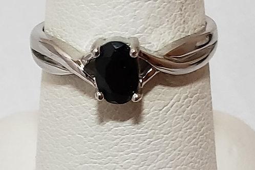 Black onyx womens ring