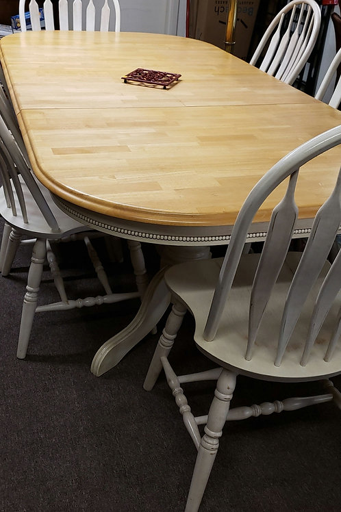 Antique White and Wood Table