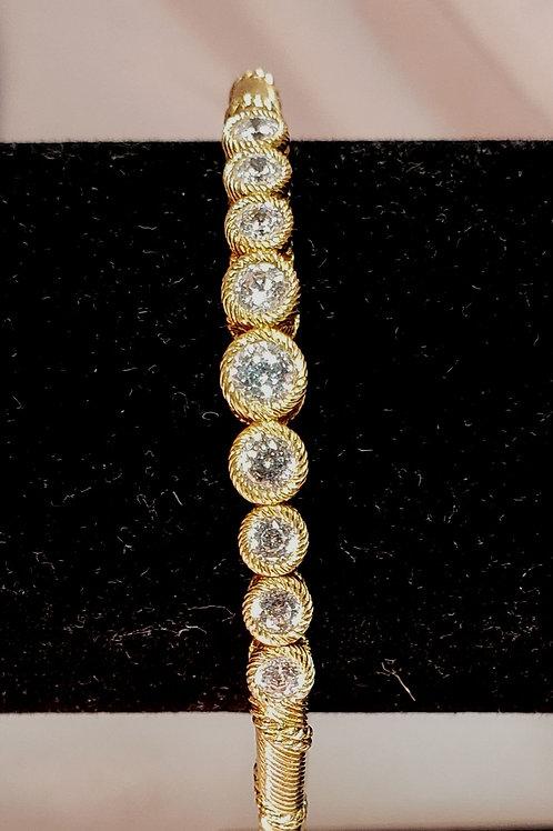 Judith Ripka Sterling bracelet with cz's