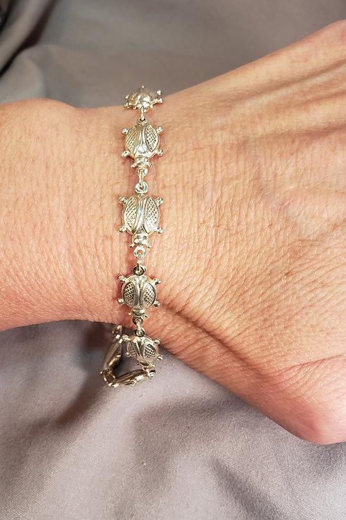 Lady bug/beetle bracelet