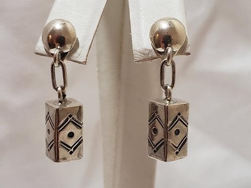 Rectangle drop earrings