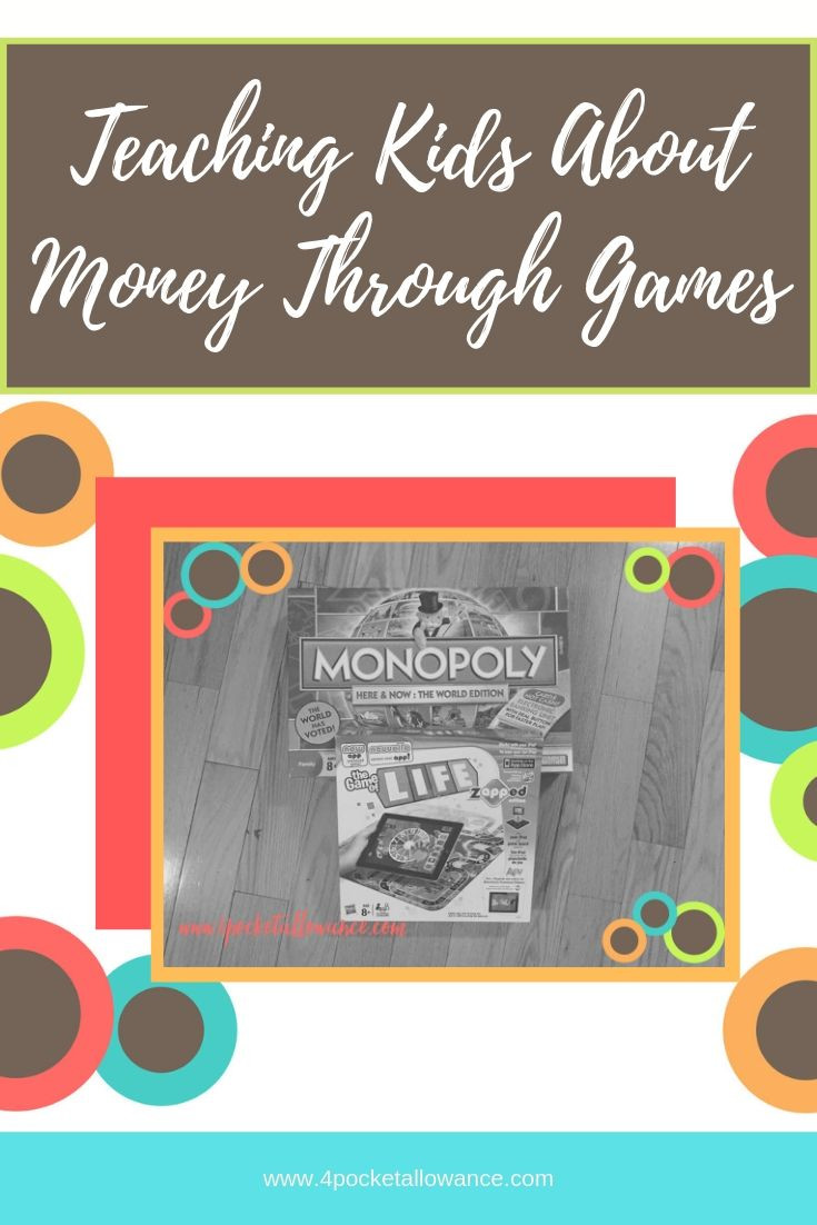 The game of money, Ideas for parents about allowances and teaching kids about money and financial literacy, #4PocketAllowance