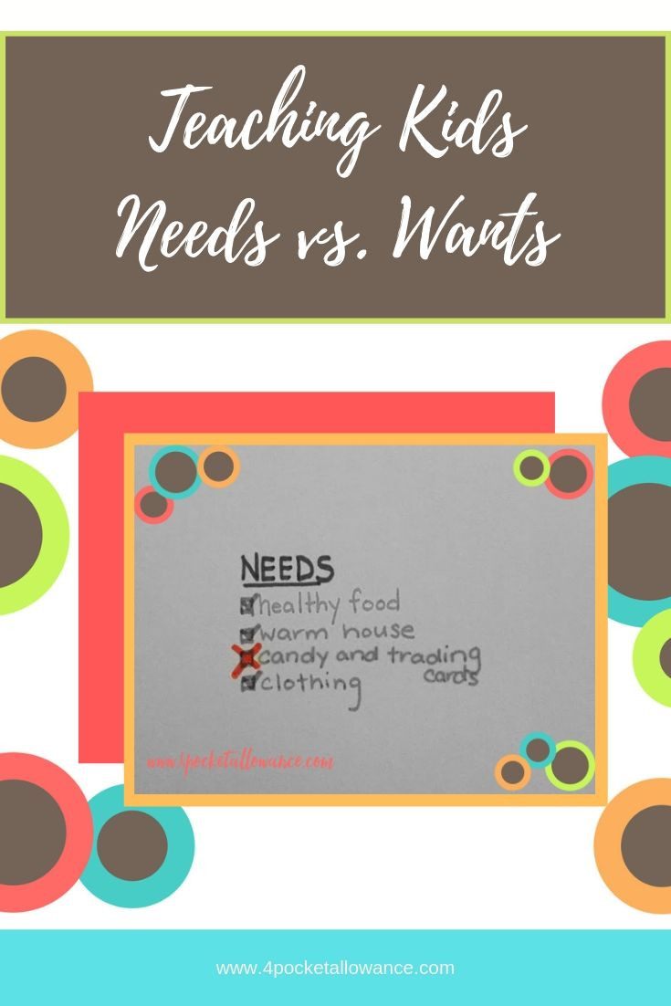 Ready for the Real World - Needs vs. Wants, Ideas for parents about allowances and teaching kids about money and financial literacy, #4PocketAllowance