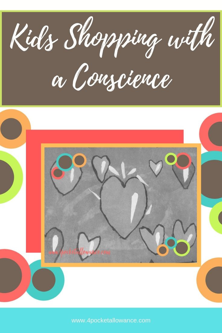 Shopping with a Conscience, Ideas for parents about allowances and teaching kids about money and financial literacy, #4PocketAllowance