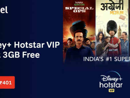 Bharti Airtel's new prepaid plan offers Disney+ Hotstar subscription for 1 year