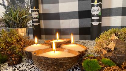 Powder Candle Pulberküünal kookospähklis