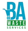 Bay Area Waste Services Logo, trash and recycle cart
