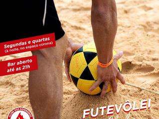 SEGUNDAS E QUARTAS DE FUTEVÔLEI NO CLUBE! ⚽🔥